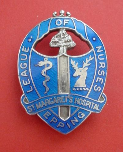St Margaret's Hospital Epping League of Nurses Silver Badge