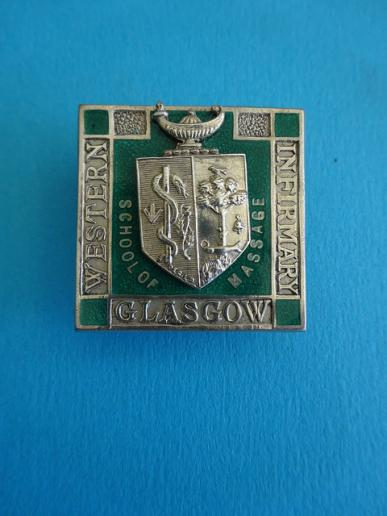 Glasgow Western Infirmary,Silver School of Massage badge