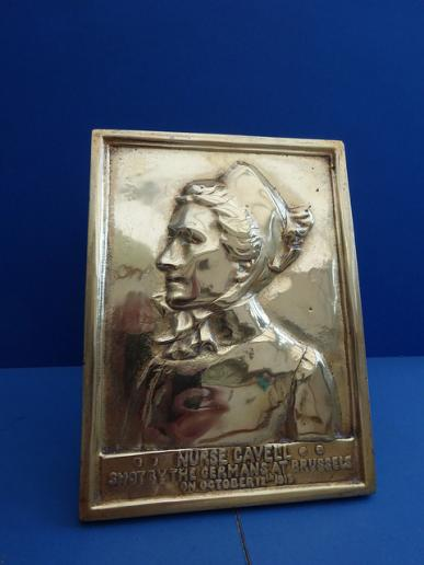 Edith Cavell,Heavy Brass Memorial Plaque