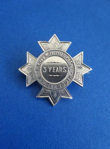 Royal Victoria & West Hampshire Hospital Bournemouth Silver Nurses Badge