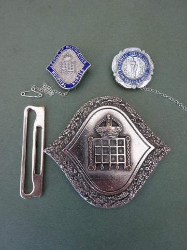 The Westminster Hospital,Nurses League badge,Silver Plated Buckle and GNC badge set