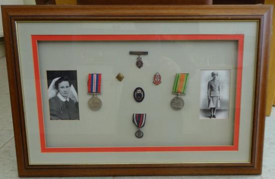 Queen Alexandra's Imperial Military Nursing Service Reserve/Staffordshire Badge and Medal Group