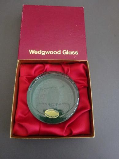 Wedgwood Glass Paperweight,General Nursing Council for England & Wales