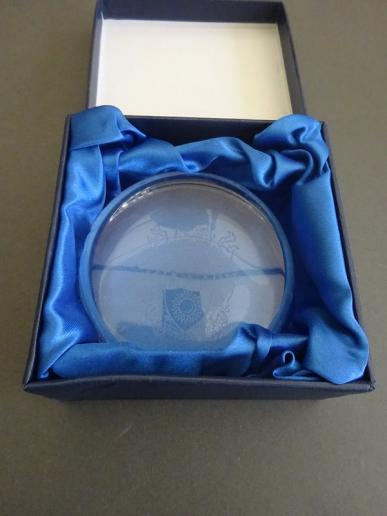 Lead Crystal Paperweight,Royal College of Nursing